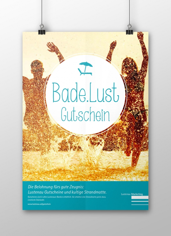 Lustenau Marketing - Bade.Lust Poster